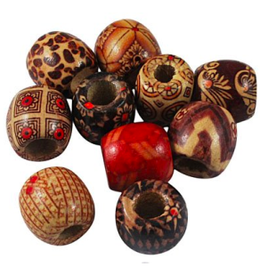 Wooden Dread Beads